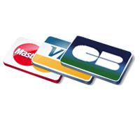 Cartes de paiements acceptés